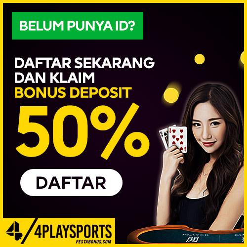 Bonus Member Baru Live Casino 50% 4playsports