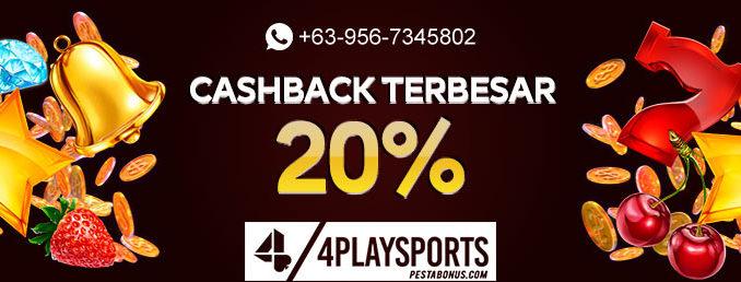 Promo Cashback 20% Slot Terbaru 4playsports