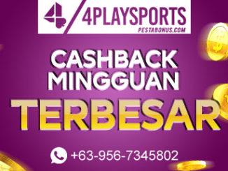 Promo Cashback Slot Terbaru 4playsports