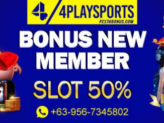bonus new member slot 50% 4playsports